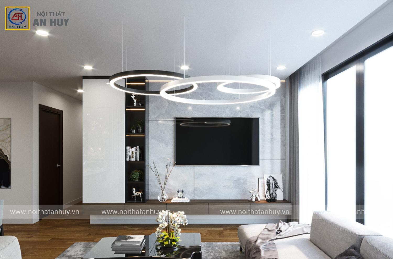 Thiết kế thi công nội thất chung cư Bohemia Residence 127m2 – số 2 Lê Văn Thiêm