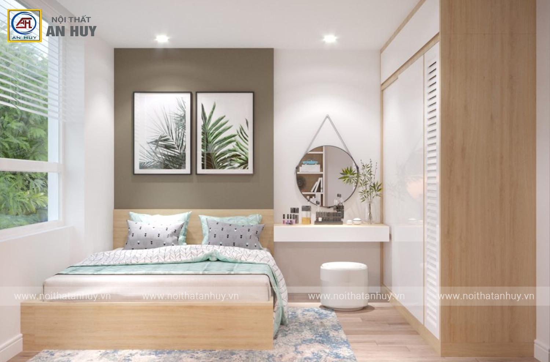 Thiết kế thi công nội thất phòng ngủ chung cư Taseco – Ngoại giao đoàn