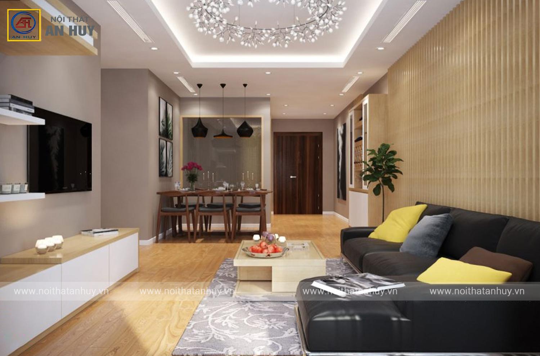 Thiết kế nội thất chung cư Hòa Phát 56m2