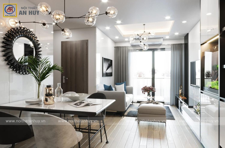 Thiết kế nội thất chung cư HUD3 – Nguyễn Đức Cảnh – Hoàng Mai – chị Dung