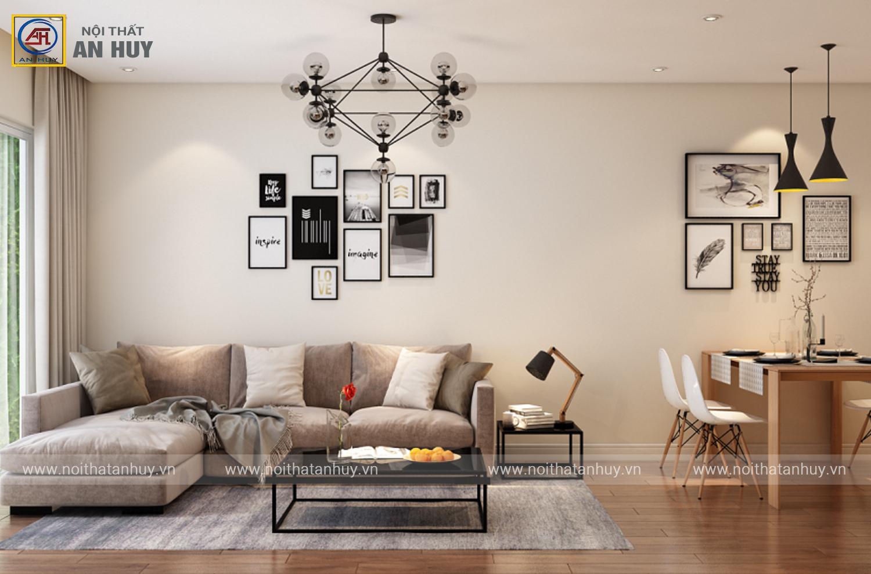Thiết kế nội thất chung cư Kim Giang – 2PN, 74m2