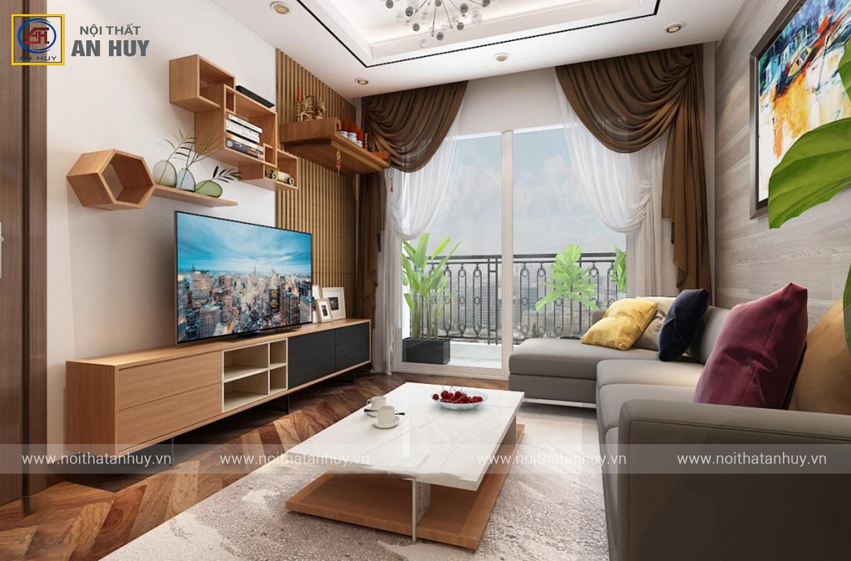 Thiết kế thi công nội thất chung cư 789 Xuân Đỉnh – chị Diệp