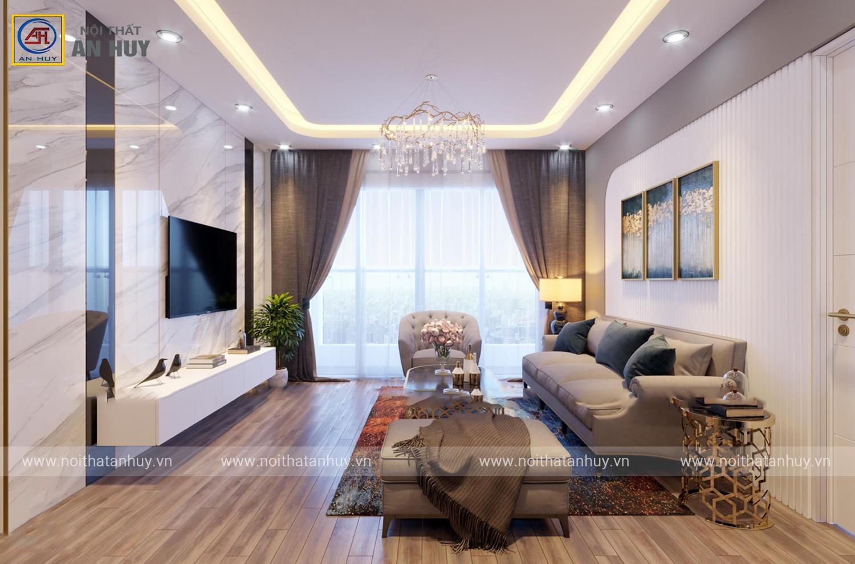 Mẫu thiết kế nội thất 3D chung cư Sunshine City – căn CH02 tòa S1