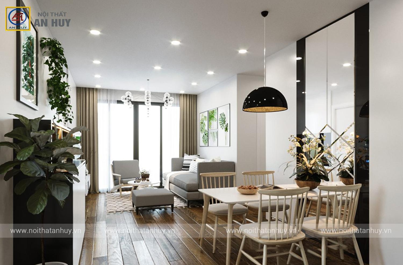 Thiết kế nội thất chung cư Vinhome SkyLake – căn hộ ngập tràn ánh sáng 90m2