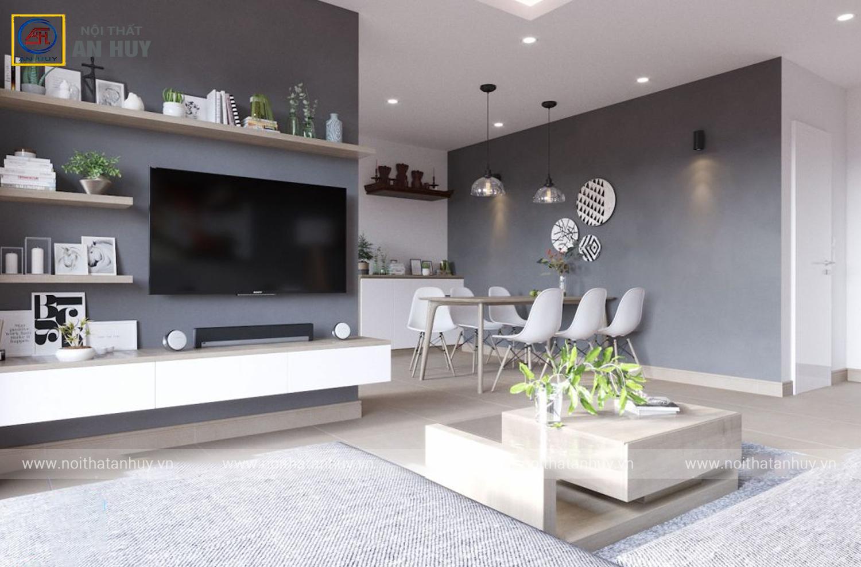Thiết kế thi công nội thất chung cư 84m2 – FLC Đại Mỗ theo phong cách Scandinavian