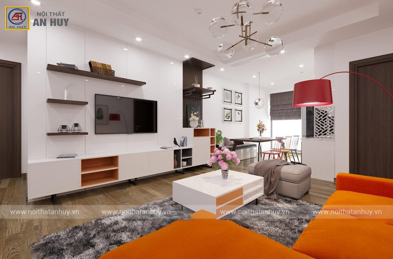 Ngắm nhìn căn hộ đầy màu sắc 2PN – Mỹ Đình Plaza 2