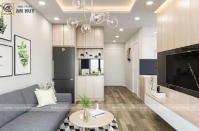 Thiết kế nội thất chung cư 2 phòng ngủ Mẫu 4