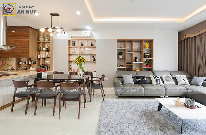 Hút mắt với thiết kế nội thất nhà phố 90m2 – 4 tầng (Anh Hải – Sơn Đồng, Hoài Đức, Hà Nội)
