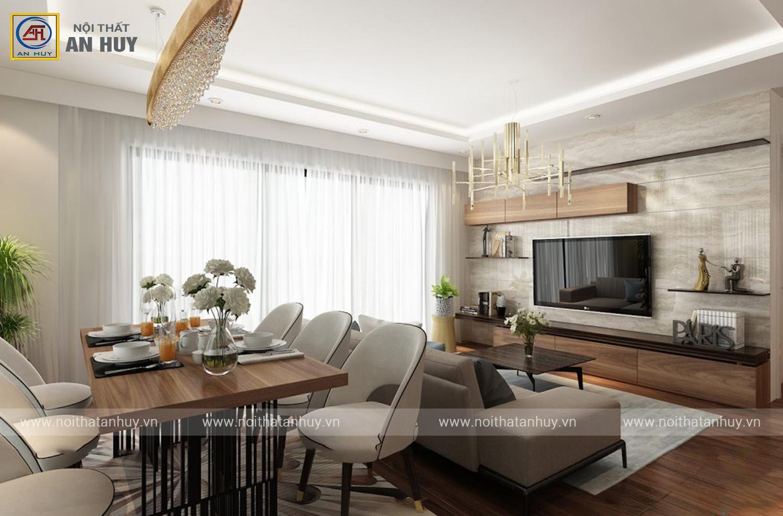 Thiết kế nội thất chung cư Anland 90m2 – chị Trâm