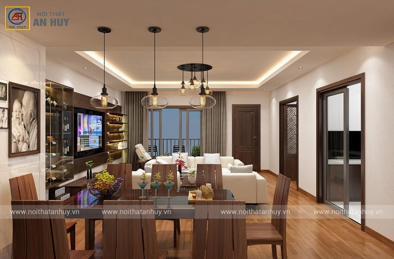 Thiết kế nội thất chung cư 2 phòng ngủ – 74m2