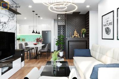 Thiết kế nội thất chung cư 3 phòng ngủ Mẫu 4