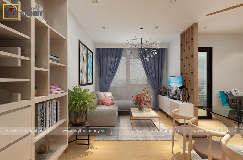 Thiết kế thi công nội thất chung cư Nghĩa Đô – Hà Nội