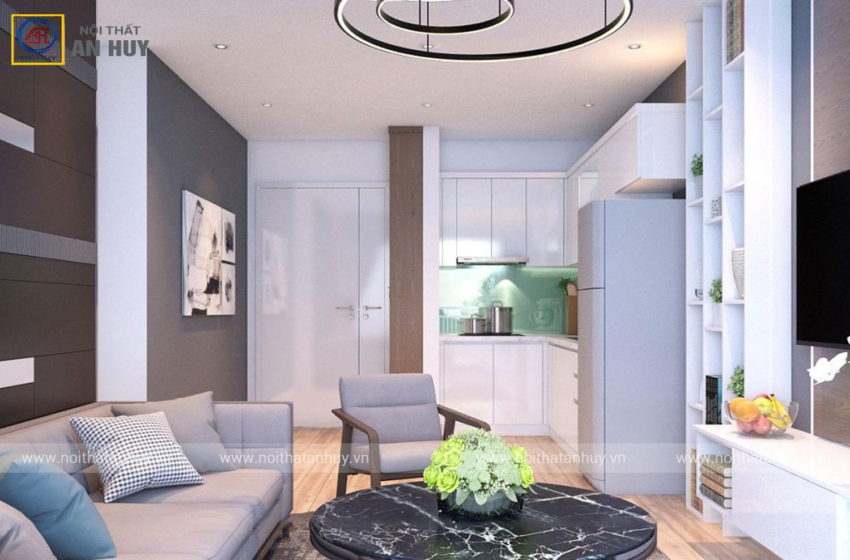 Thiết kế thi công nội thất chung cư Anland Complex – 56m2